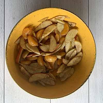 Recette fruits épicés au four