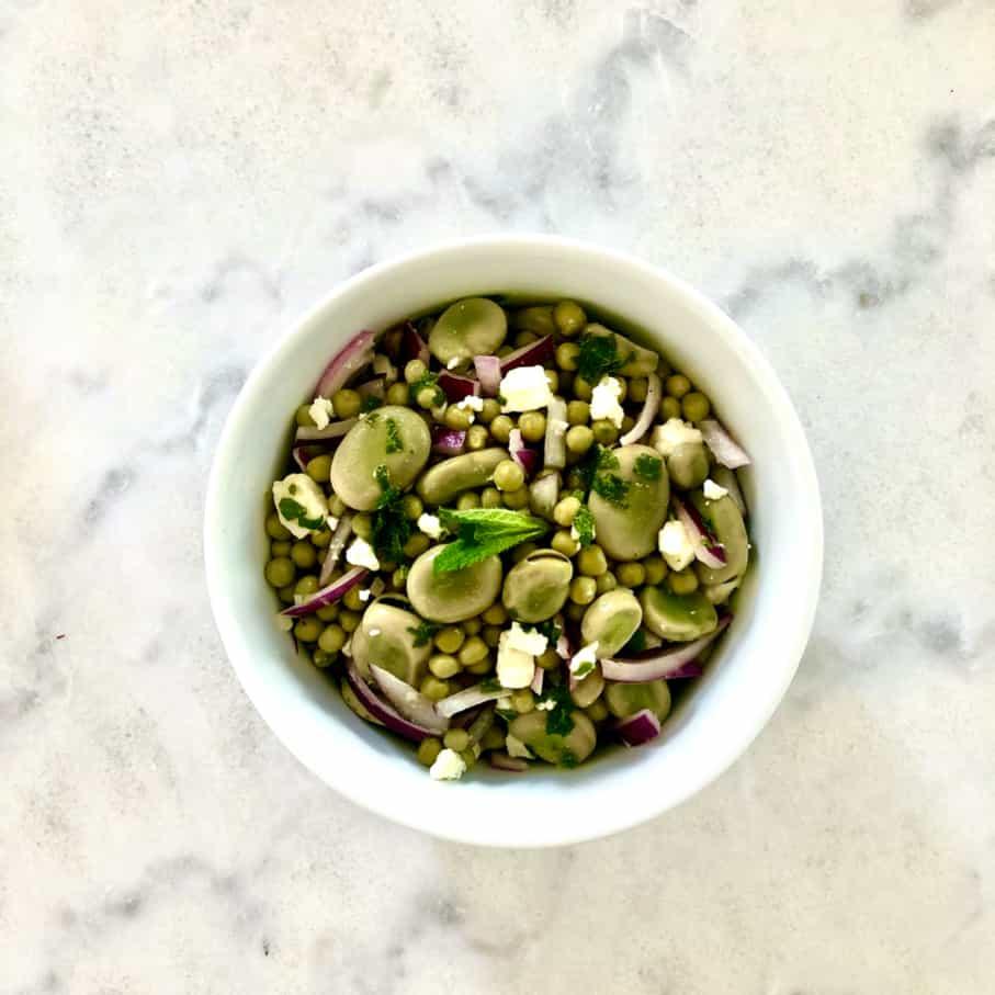 6 recettes de confinement Etape-4-salade-feves-petits-pois