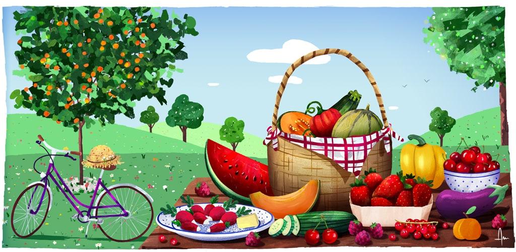 Les fruits et légumes de juillet - Yuka